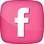 Pink Facebook Button